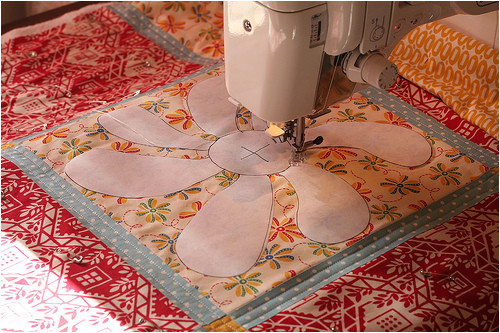 Free Motion Quilting with Freezer Paper Template Free Motion Quilting with A Freezer Paper Template Flickr