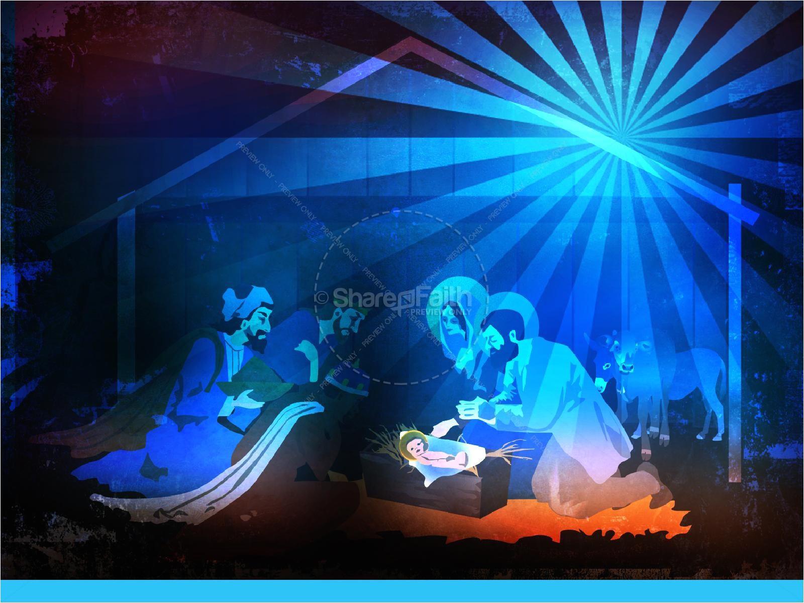 Free Nativity Powerpoint Templates the Nativity Story Christmas Powerpoint Christmas