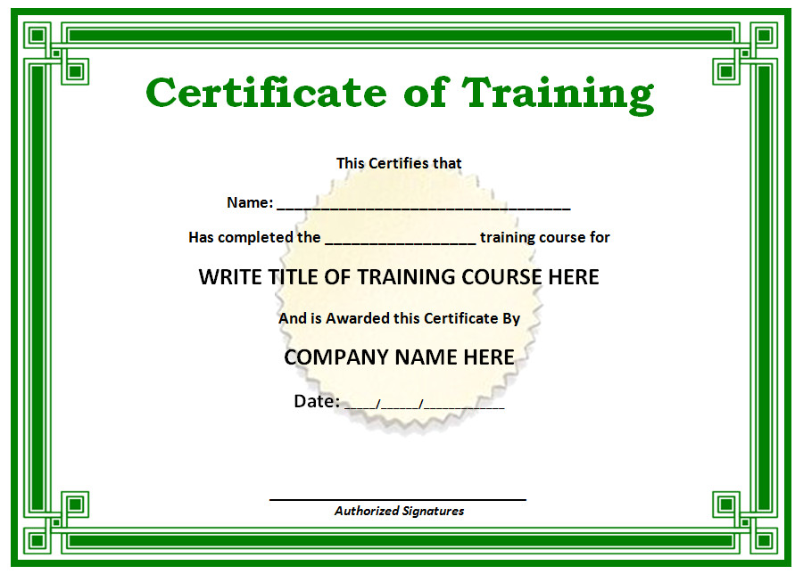 blank certificate template free download