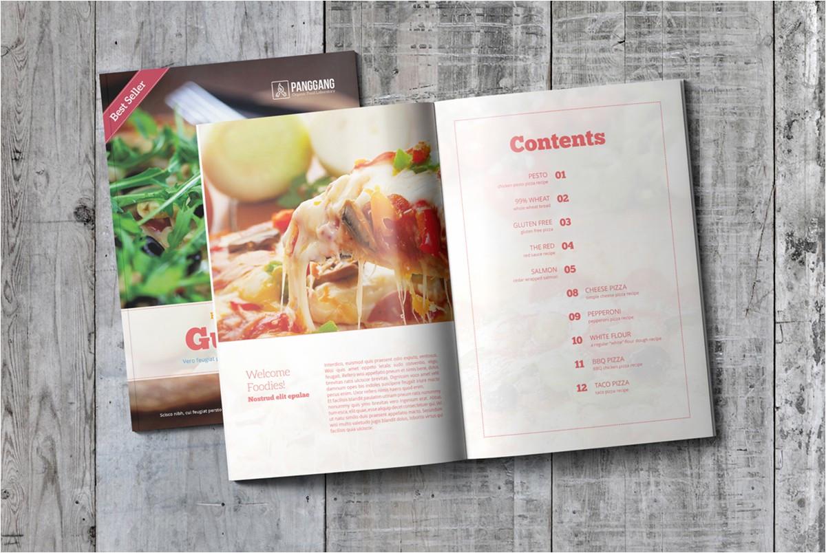 cookbook template free psd