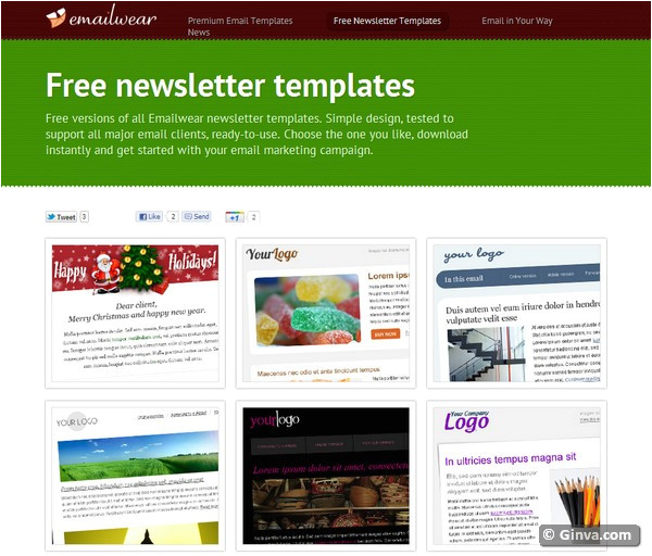 Free Online Newsletter Templates for Email 10 Excellent Websites for Downloading Free HTML Email
