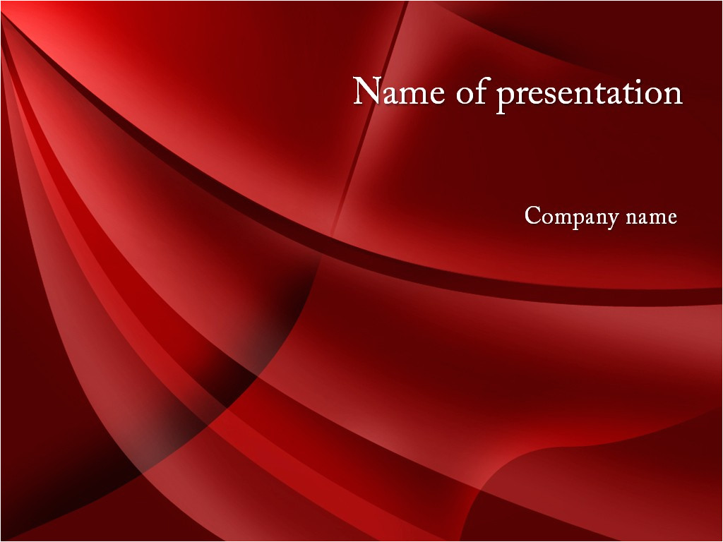 red style powerpoint template free n0031