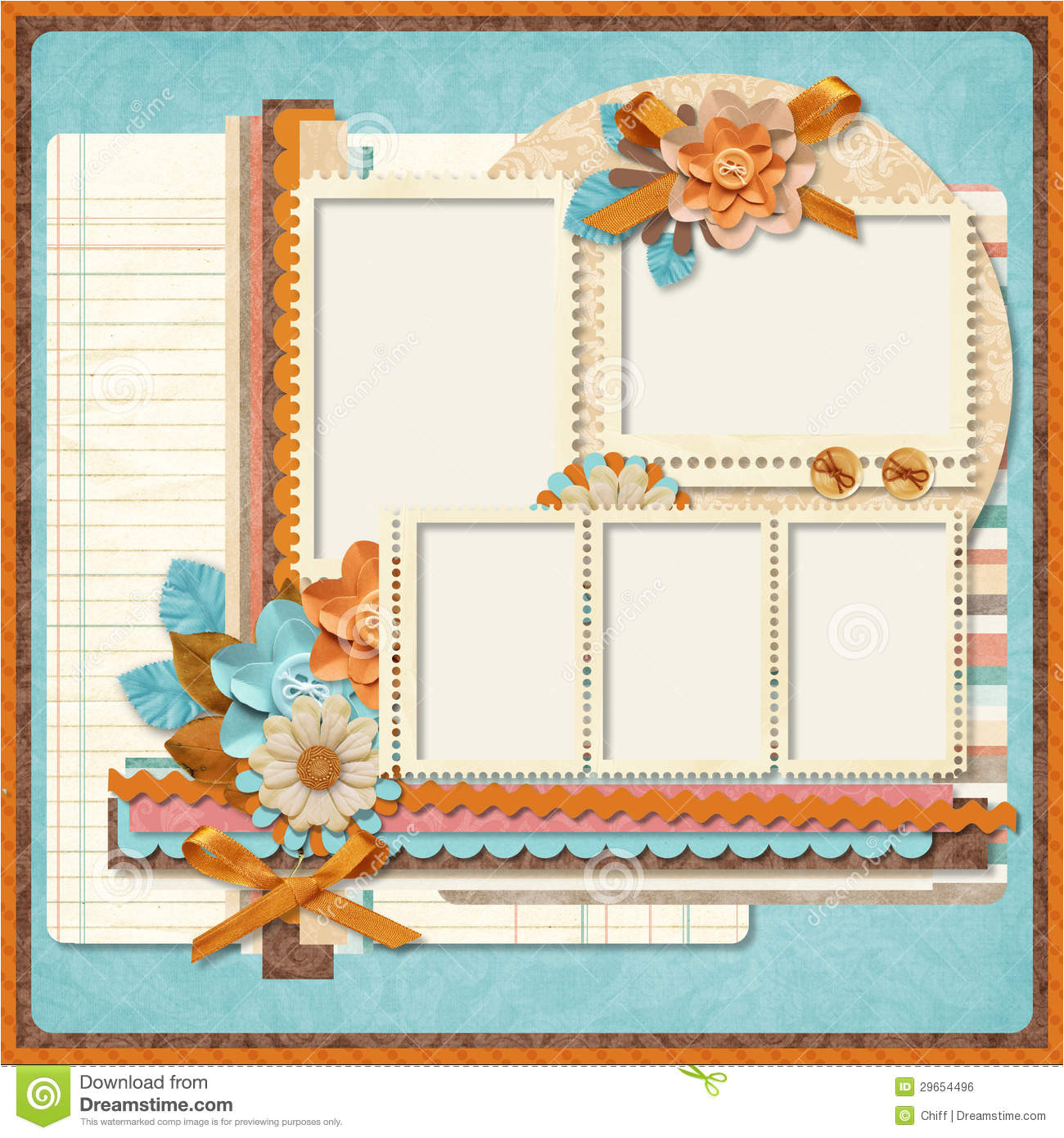 royalty free stock image retro family album 365 project scrapbooking templates image29654496