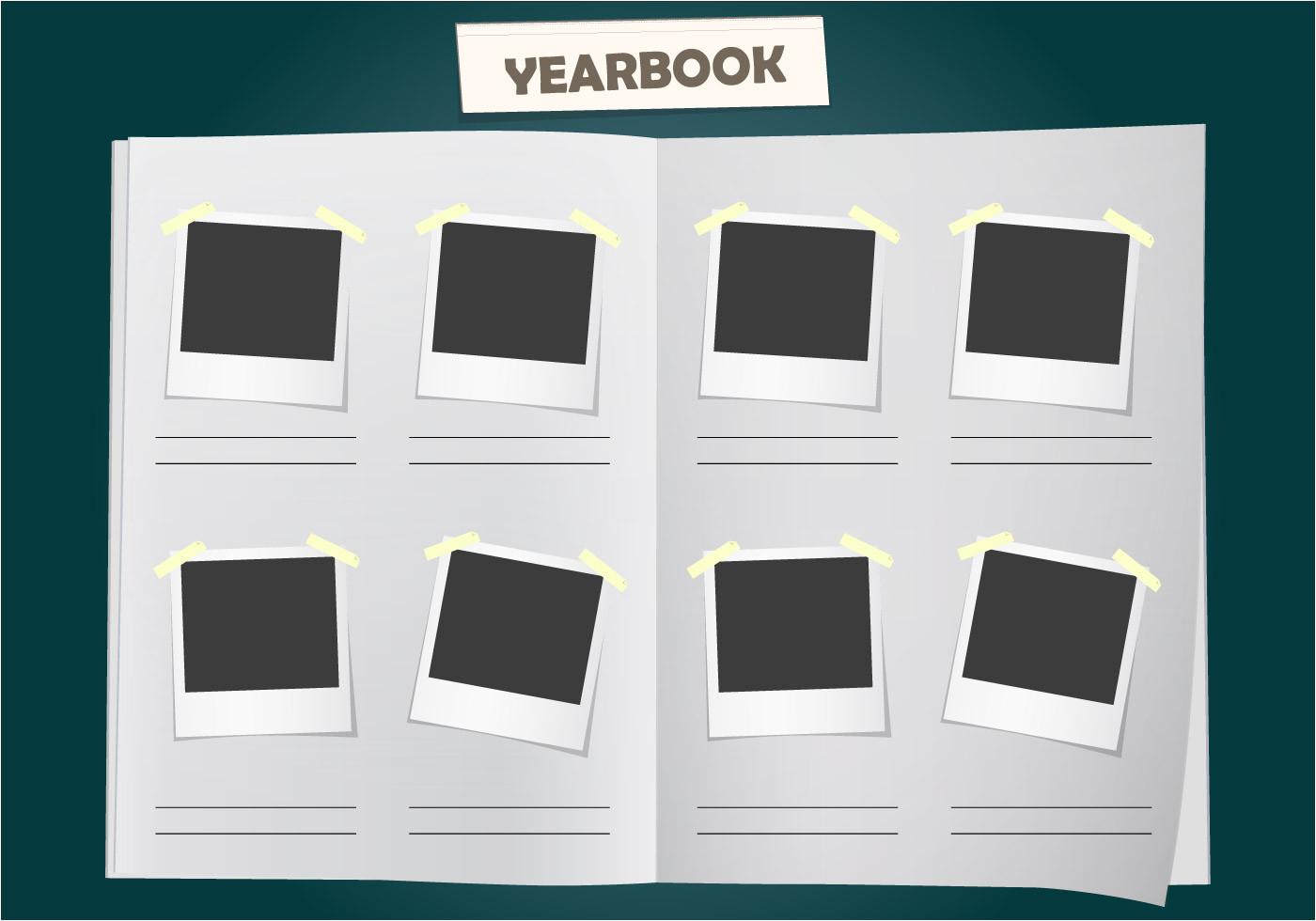 Free Online Yearbook Templates Album Yearbook Vector Template Download Free Vector Art