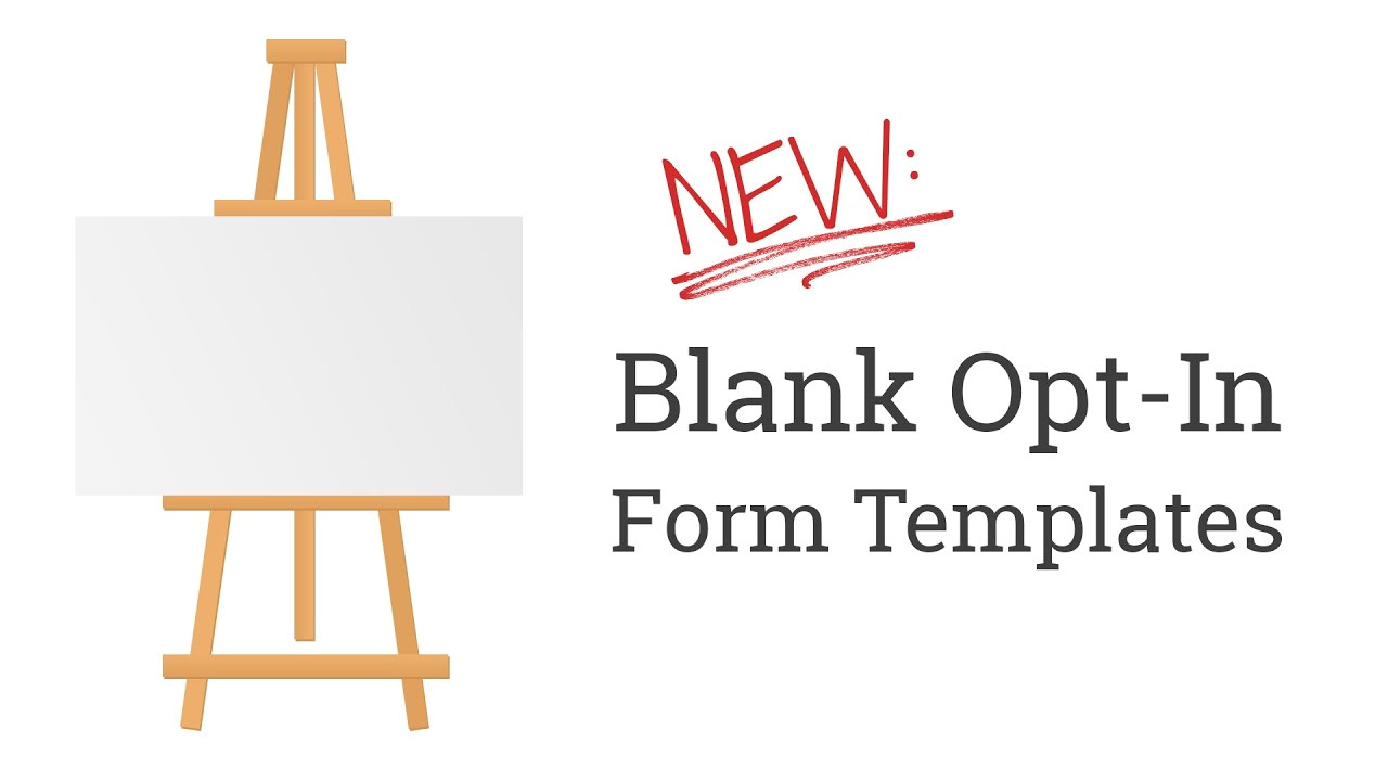 Free Opt In form Templates New Quot Blank Quot Opt In form Templates In Thrive Leads for