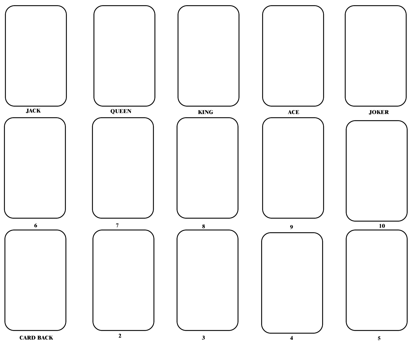 post blank playing card printable template for word 364105
