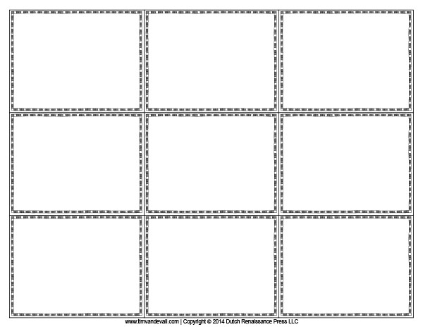 blank flash card templates