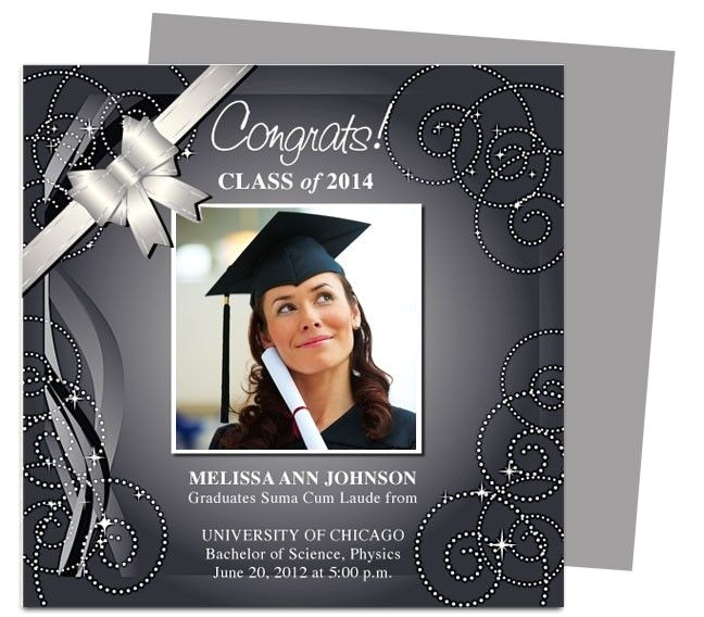 graduation announcement template 2