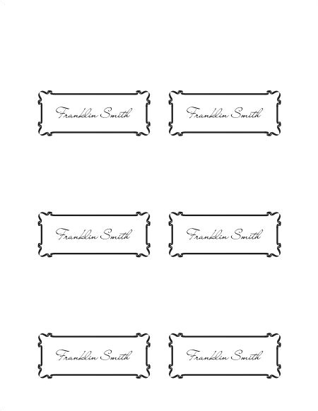 post place card template word 45249
