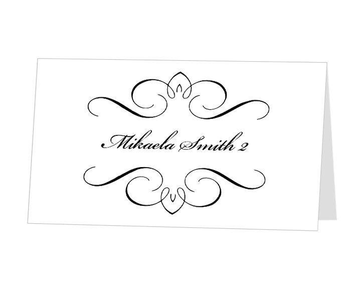 post place card template word 465791