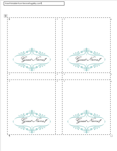how to make your own place cards with word and picmonkey or just use my free template