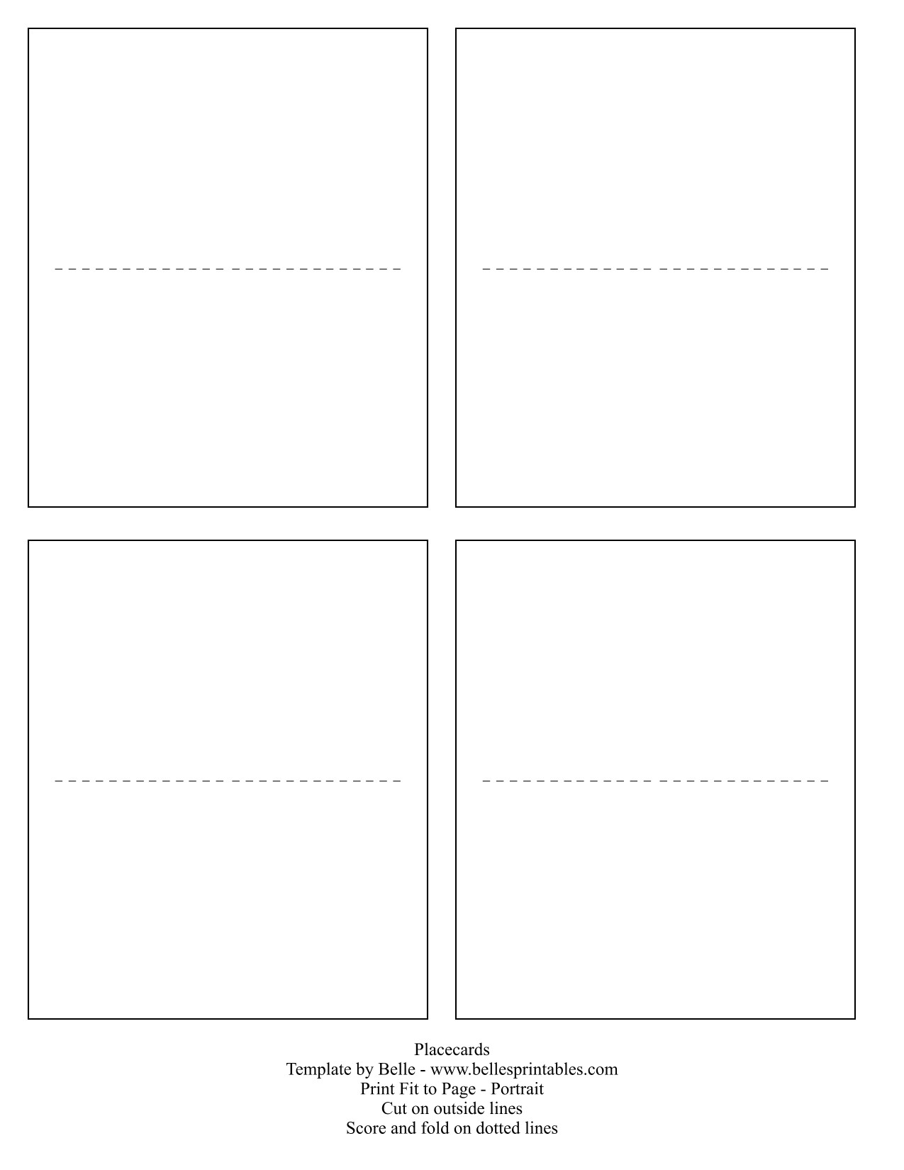 printable place cards template 4397