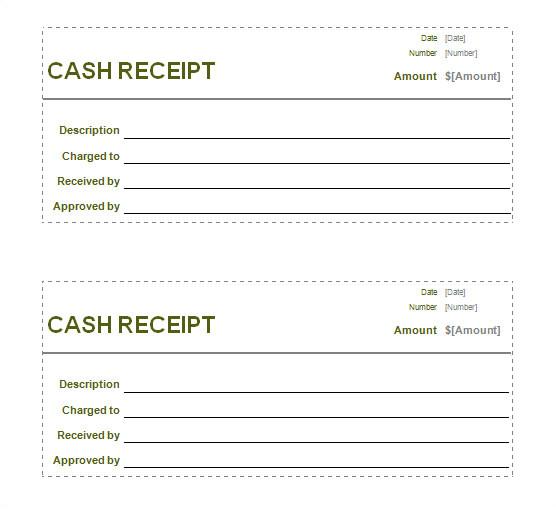receipt printable template