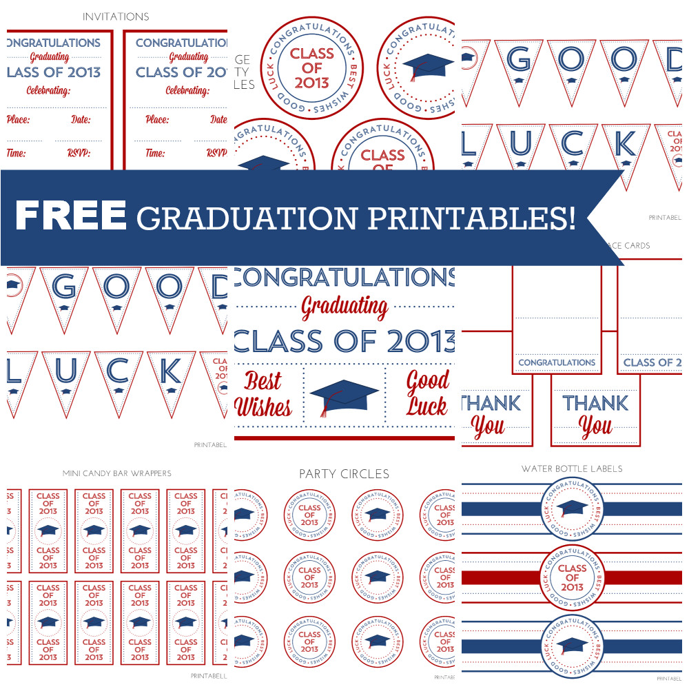 free graduation party printables from printabelle