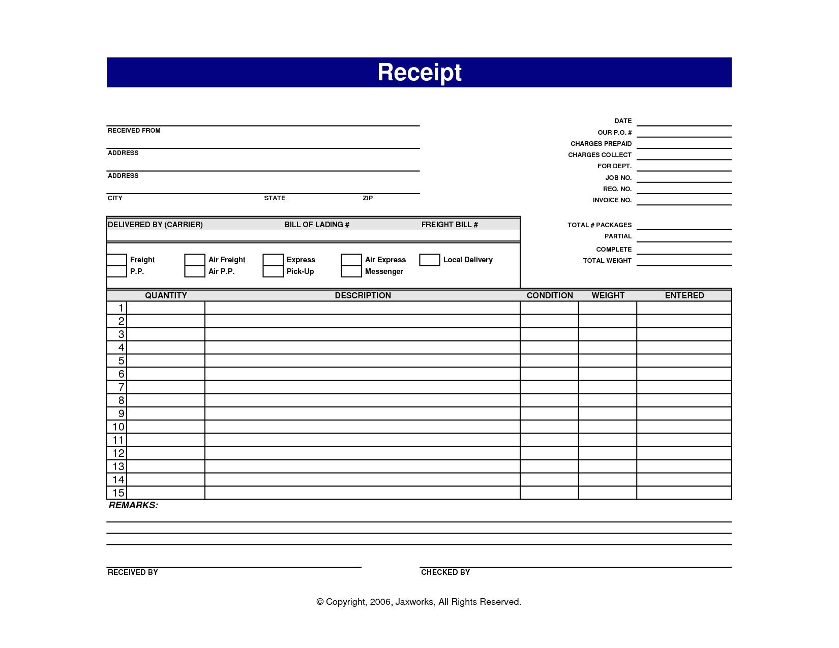 post blank printable receipt templates 361924