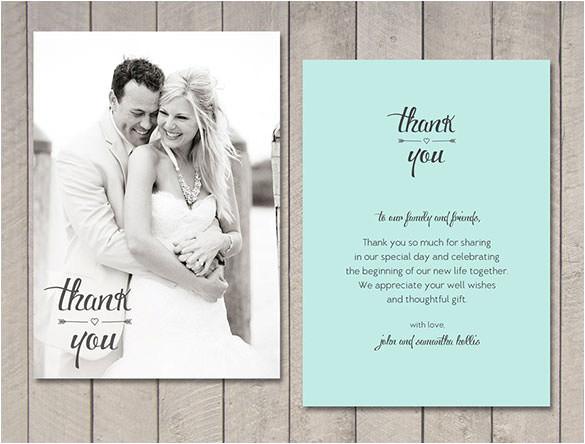 Free Printable Wedding Thank You Cards Templates 18 Wedding Thank You Cards Psd Ai Vector Eps Free