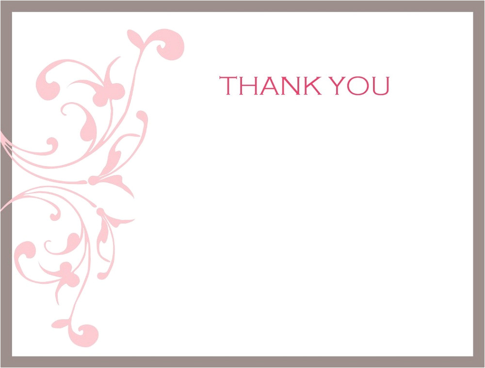 thank you note printable