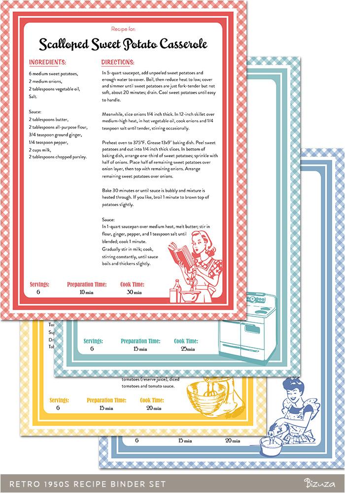 post free printable recipe binder templates 8118