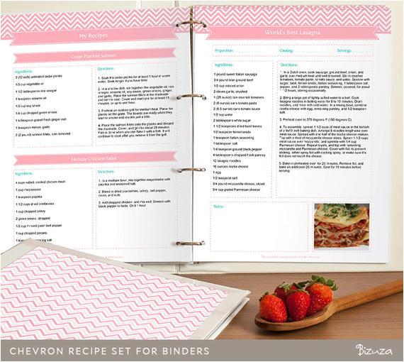 diy recipe binder printable and