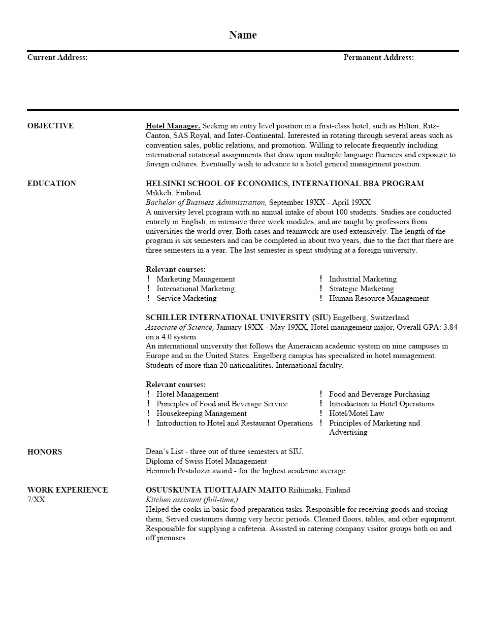 Free Resume Template or Tips Free Sample Resume Health Symptoms and Cure Com