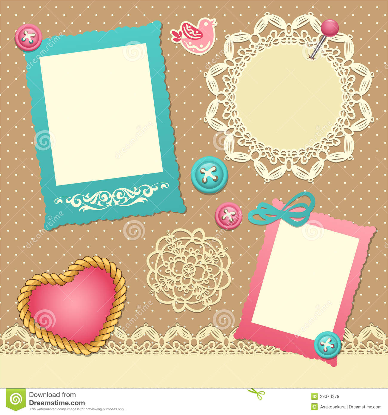 Free Scrapbooking Templates to Download Scrapbook Template Stock Vector Illustration Of Label