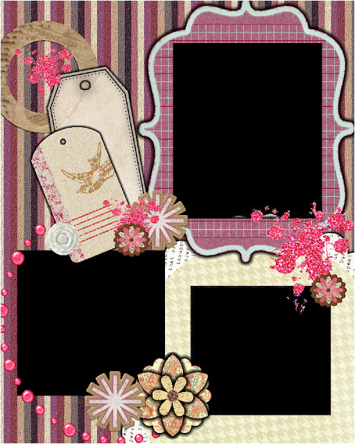 free scrapbook layout template