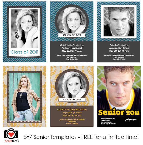 Free Senior Templates for Photoshop Free Graduation Photoshop Templates