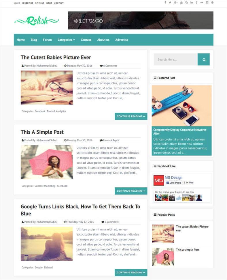 Free Seo Optimized Blogger Template 30 Best Seo Blog Templates Free Premium themes Free