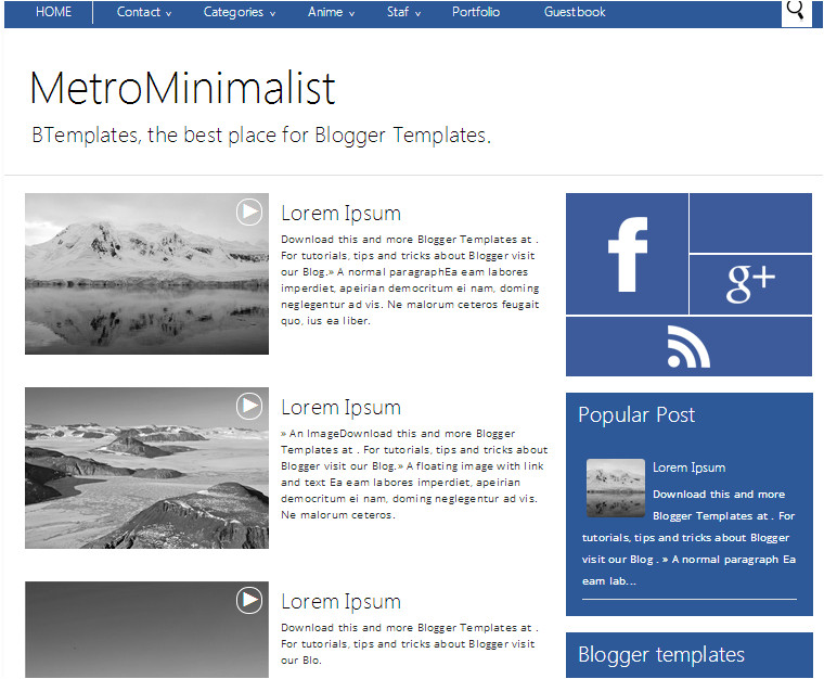 seo optimized premium blogger templates