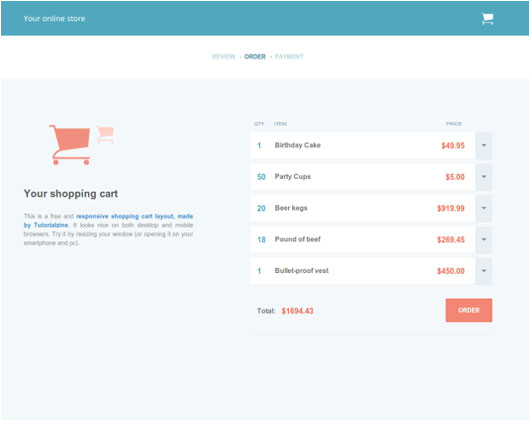 free html5 and css3 checkout forms