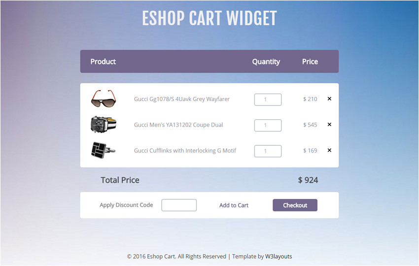Free Shopping Cart Templates HTML E Shop Cart Widget A Flat Responsive Widget Template