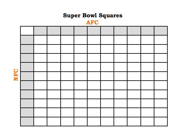 Free Super Bowl Pool Templates Football Pool Template Peerpex