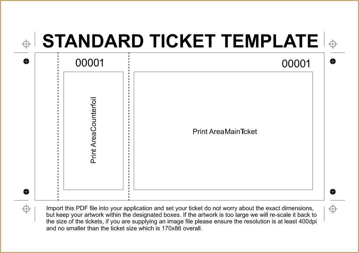 11 free printable raffle ticket template