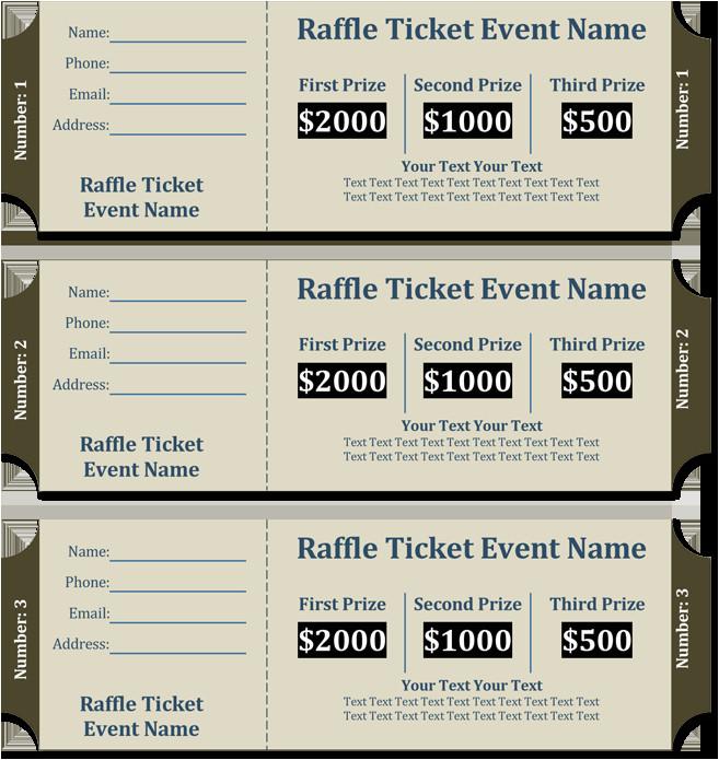 raffle ticket templates
