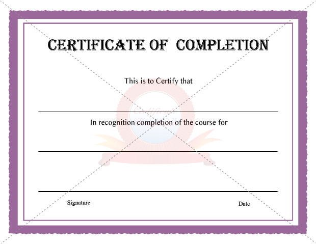 post certificate of completion template 32350