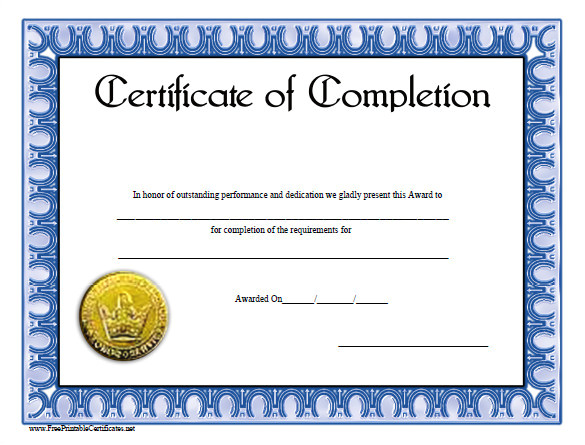 Free Templates for Certificates Of Completion 38 Completion Certificate Templates Free Word Pdf Psd