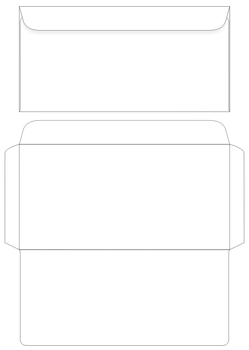 post envelopes printable template design 302834