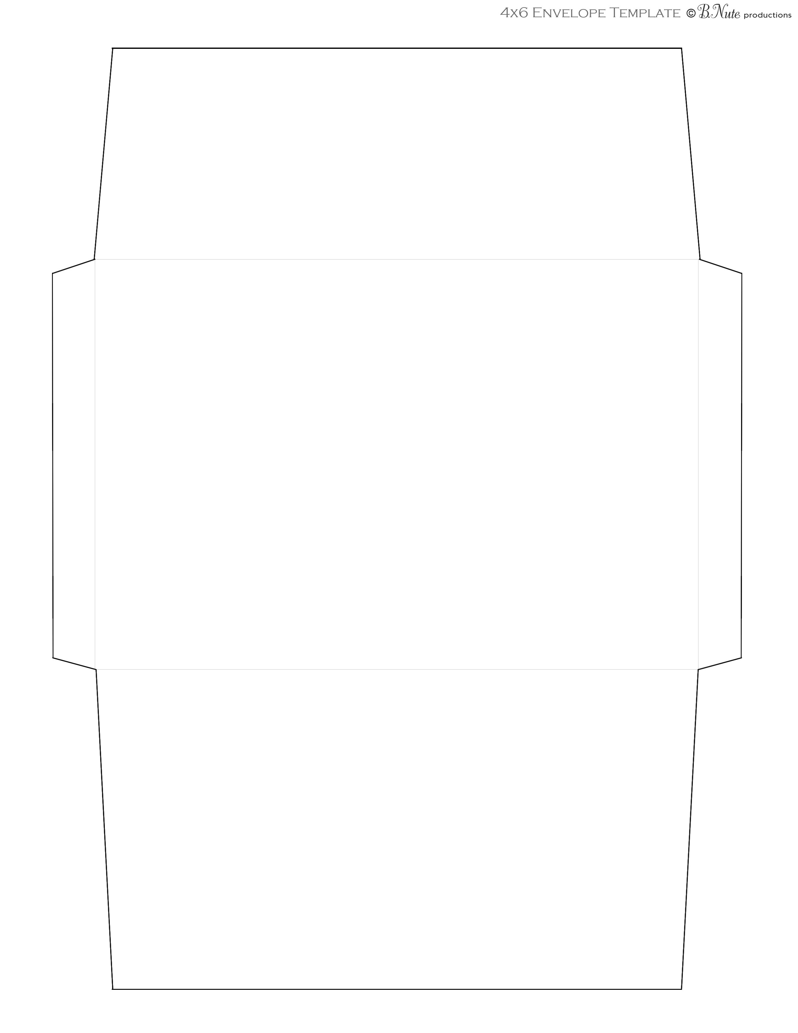 Free Templates for Envelopes to Print Bnute Productions Scrapbook Paper Ideas Printed Envelope