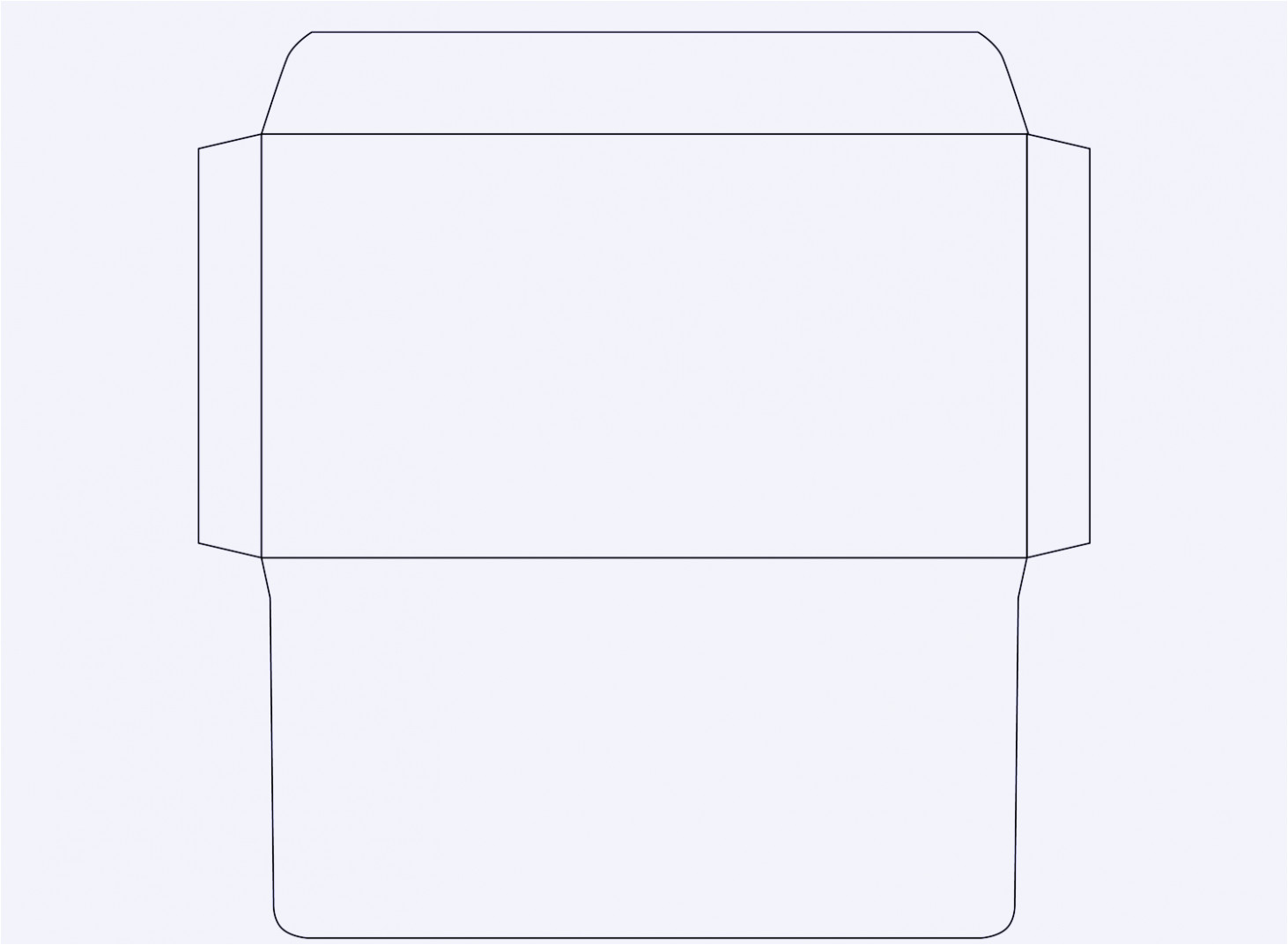 free template for envelope printing