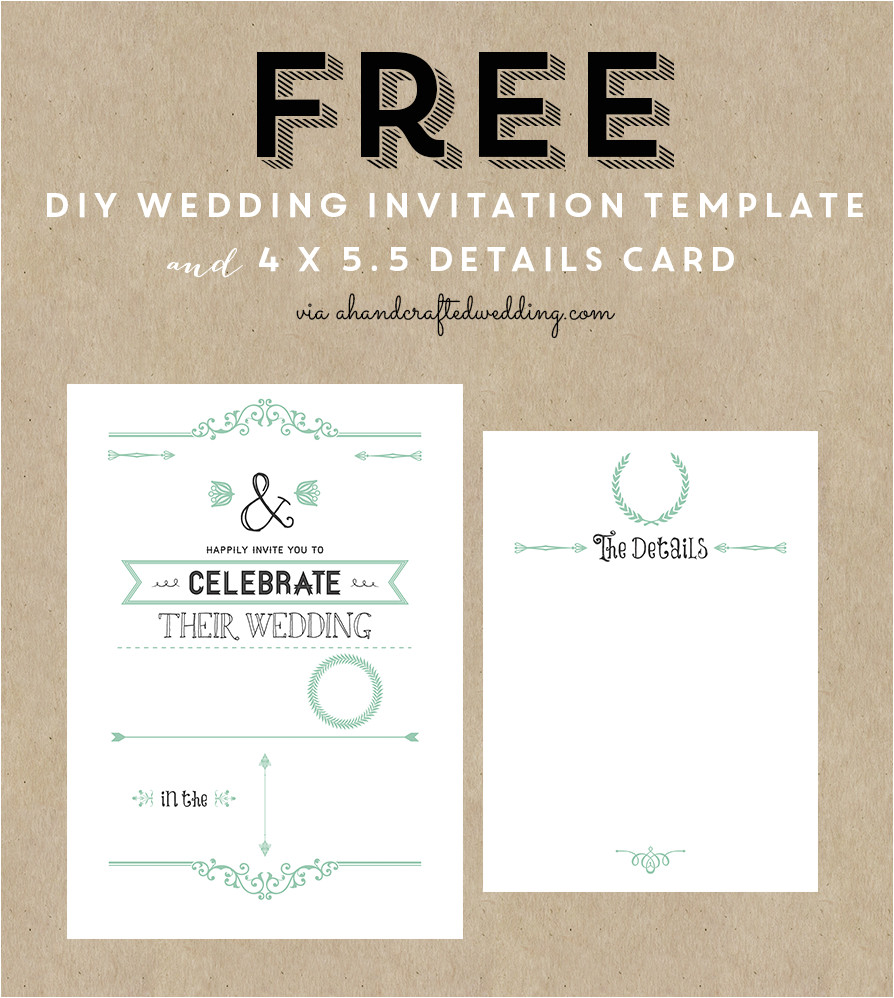 Free Templates for Wedding Invitations to Print Free Rustic Wedding Invitation Templates Best Template