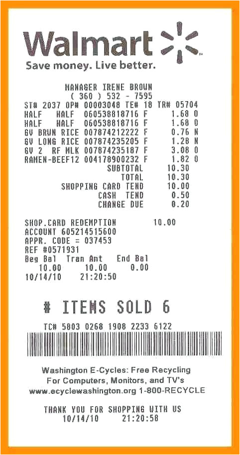 Free Walmart Receipt Template Need Walmart Receipt Template Invoice Number On Number On