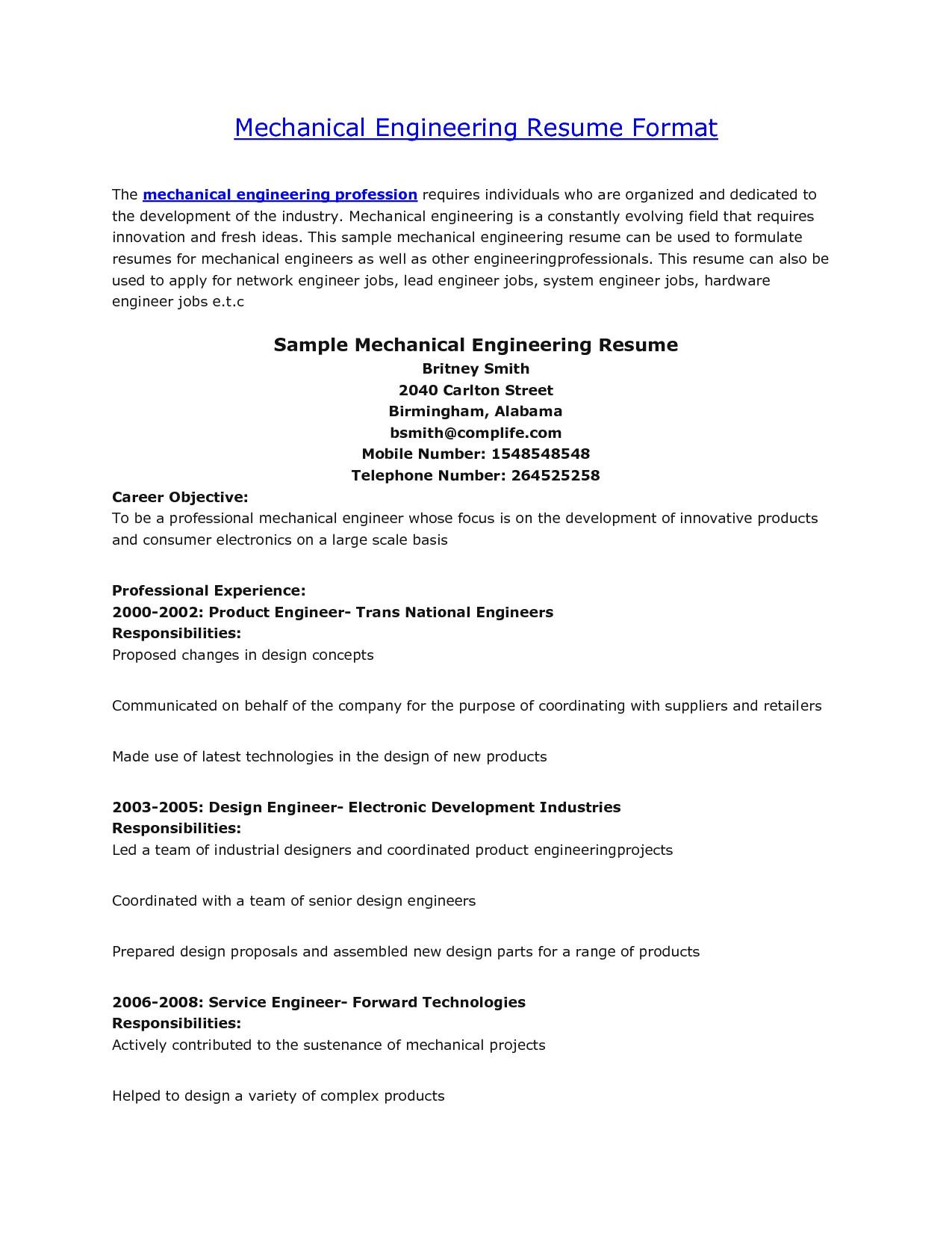 sample resume civil engineer fresher