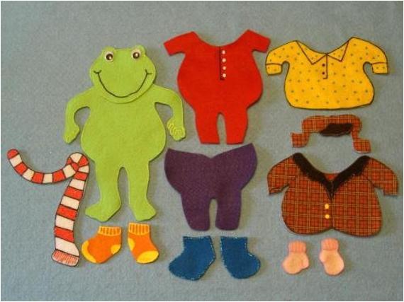 Froggy Gets Dressed Template Frog Gets Dressed Felt Set
