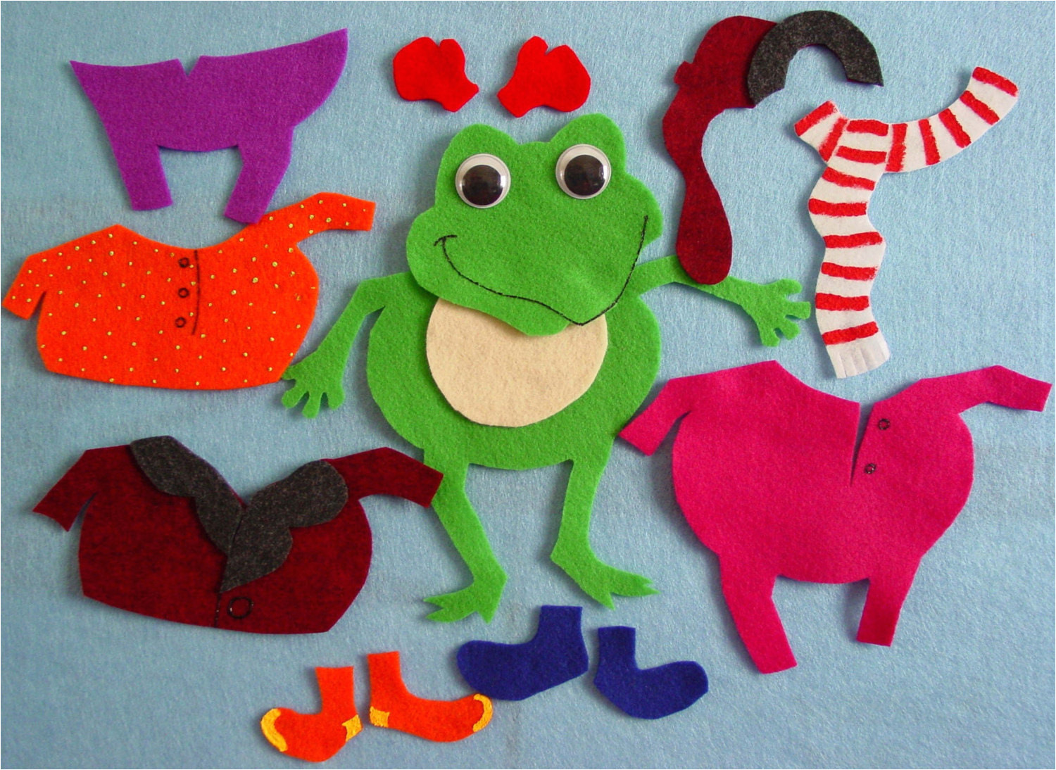 Froggy Gets Dressed Template Froggy Gets Dressed 13 Pc Flannel Board Felt Story