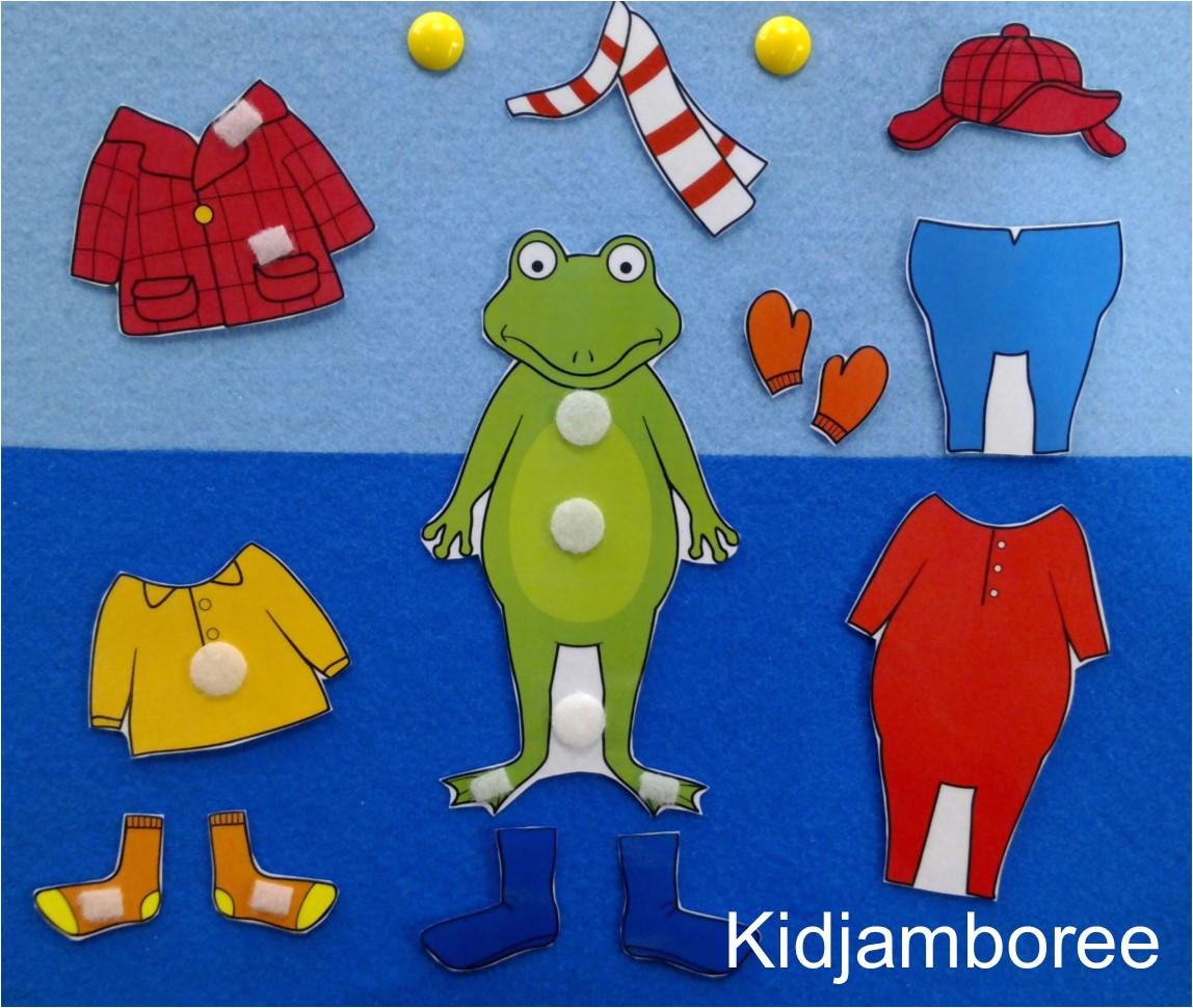 froggy gets dressed flannelboard
