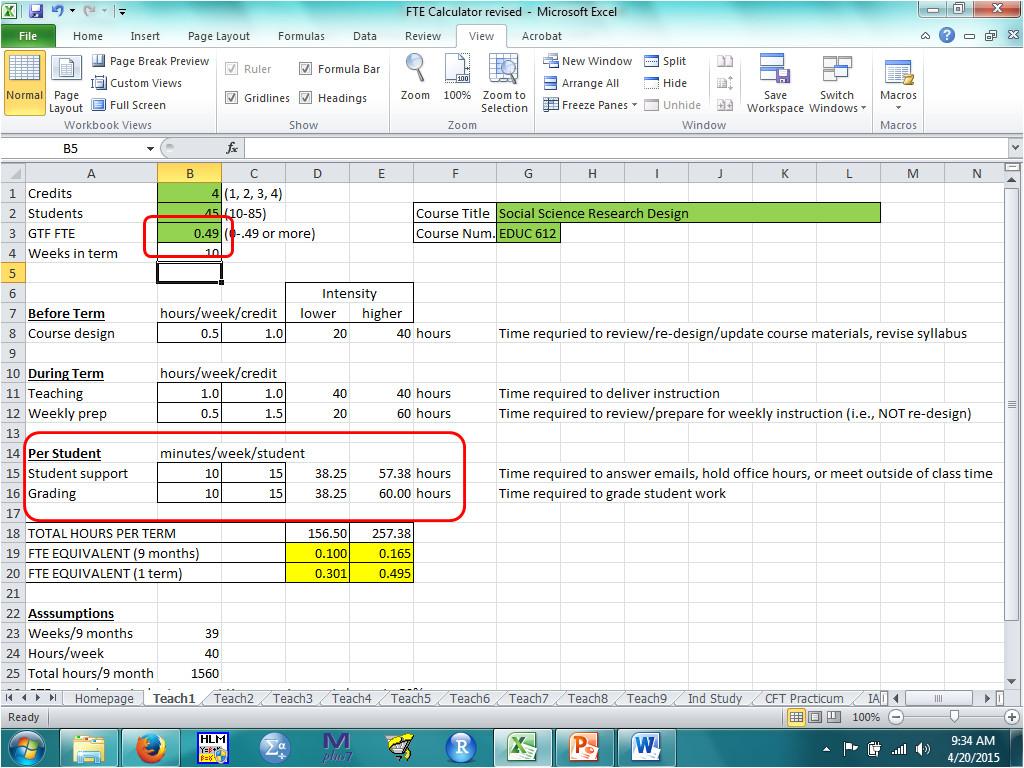 Fte Calculation Template Worksheets Fte Calculation Worksheet Waytoohuman Free