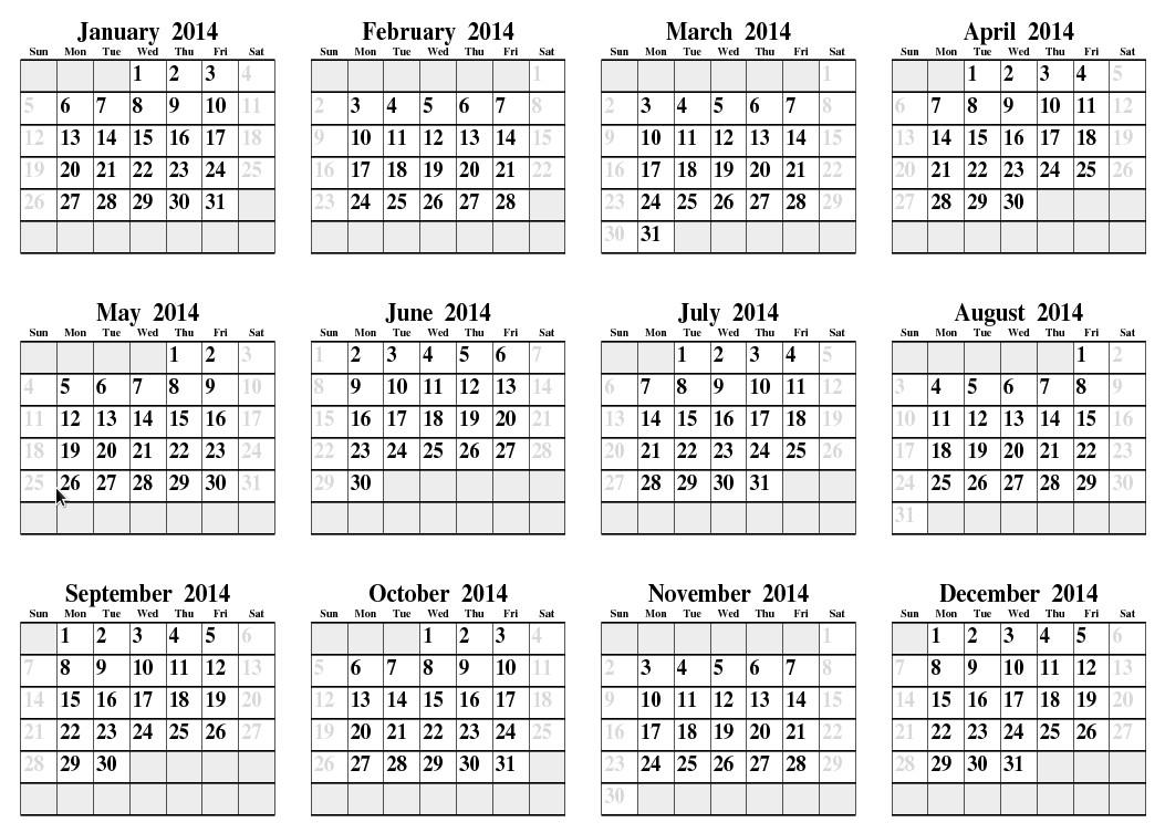 post 2014 calendar printable full page 169277