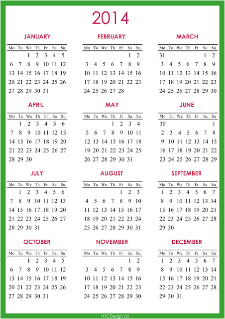 post 2014 calendar printable full page 169277