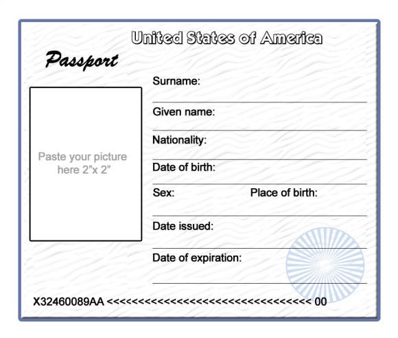 Fun Passport Template Blank Passport Template Spanish Www Imgkid Com the