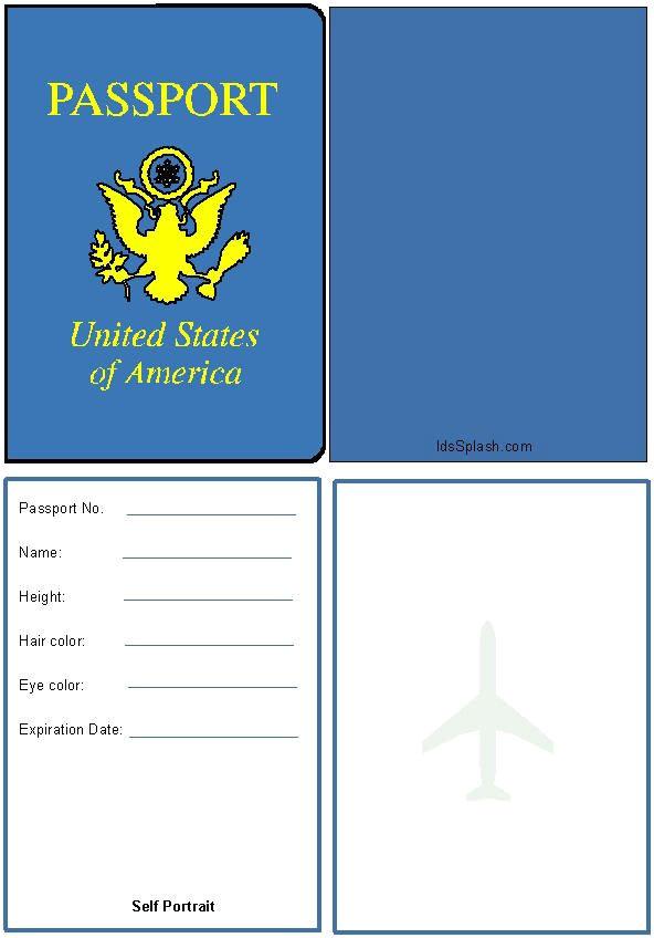 collectionpdwn pretend passport template for kids
